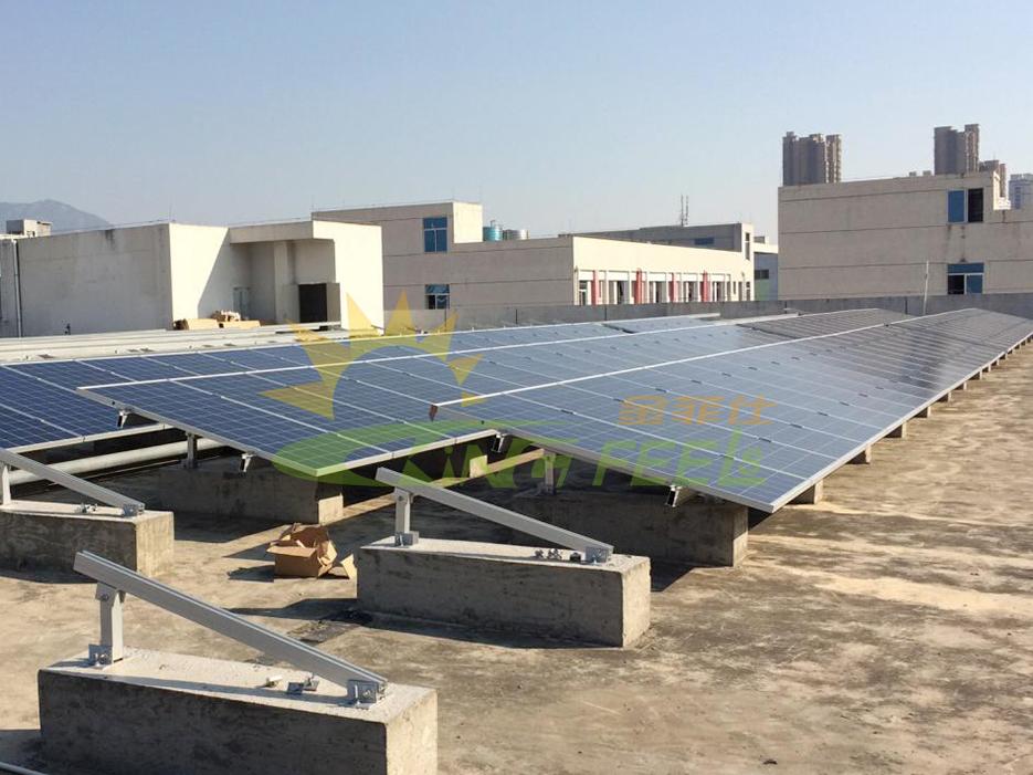 平面屋頂單排太陽能支架 福建莆田5MW