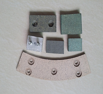 Brake friction pads for mechanical equipment