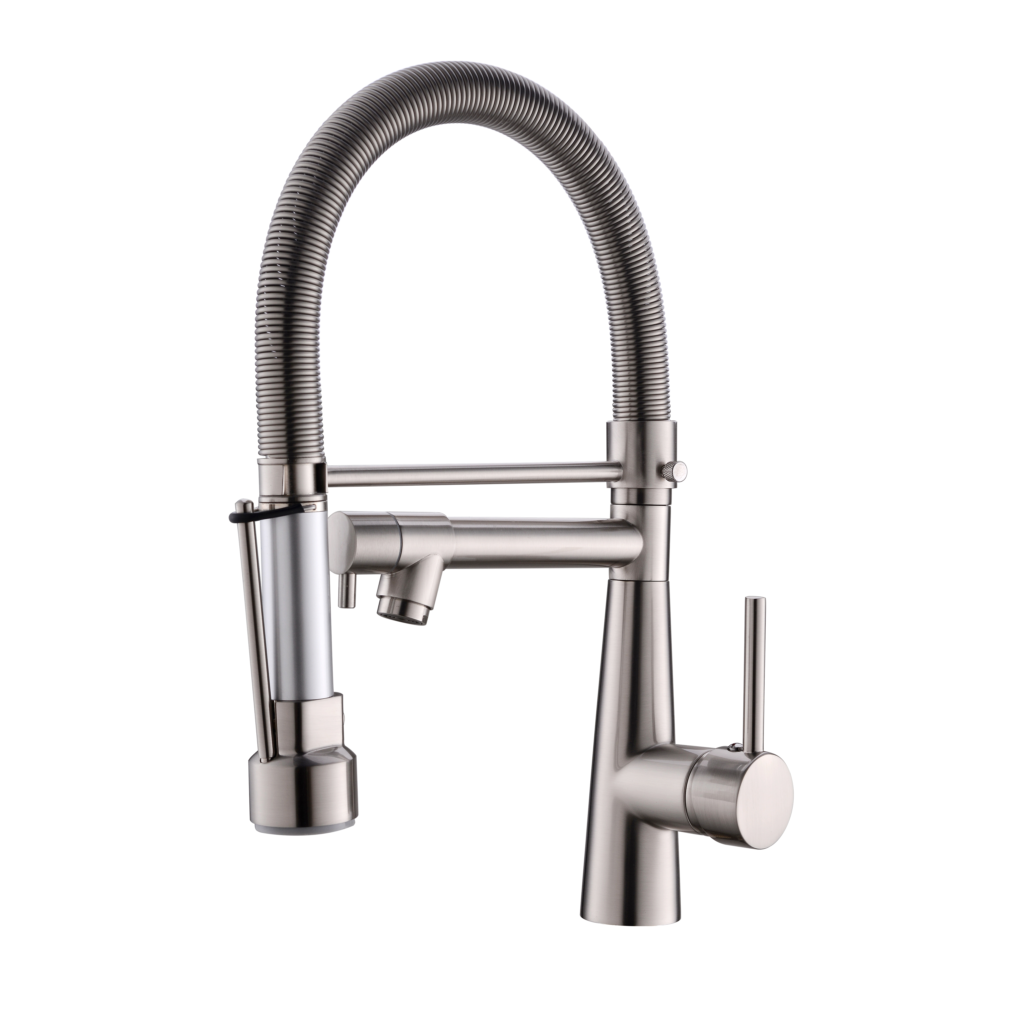 Kitchen Faucets with Pull Down Sprayer,Commercial Single Handle Kitchen Sink Faucet with LED Light,Brushed Nickel