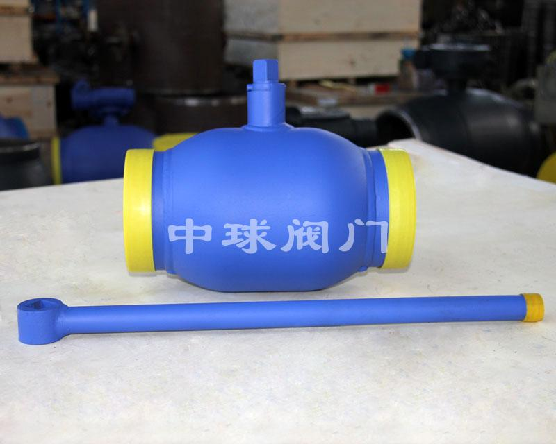 Handle type fully welded ball valve Q61F DN125