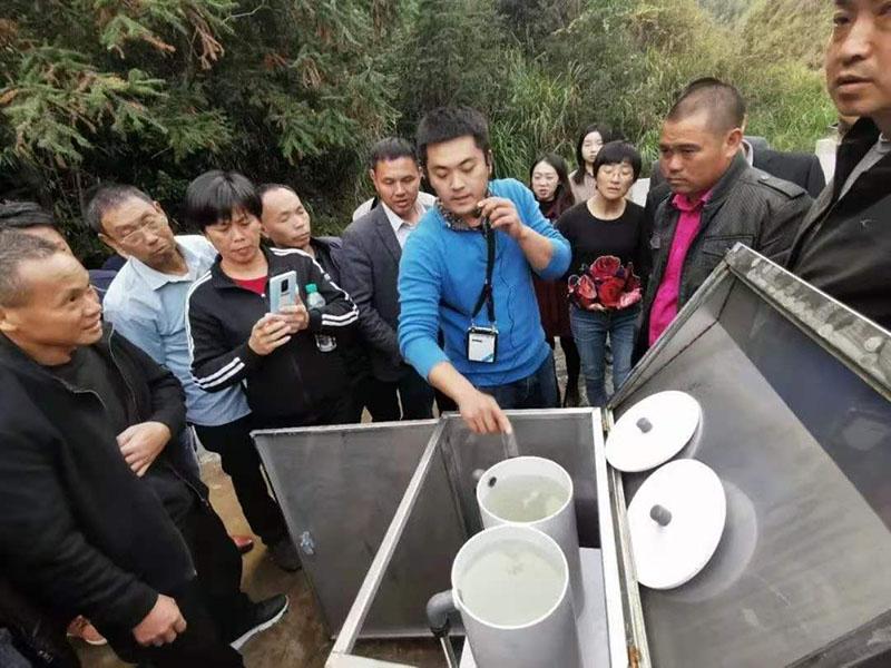 江西遂川采用我司一體化凈水設備處理農村飲用水