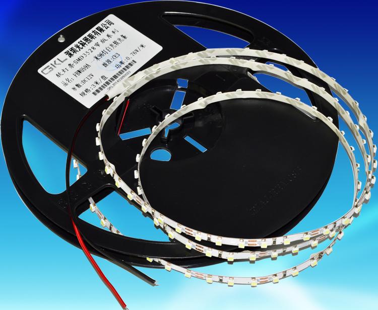 FBW059A,每米96燈3528貼片5*5000mm雙面FPCB不防水燈帶DC12V
