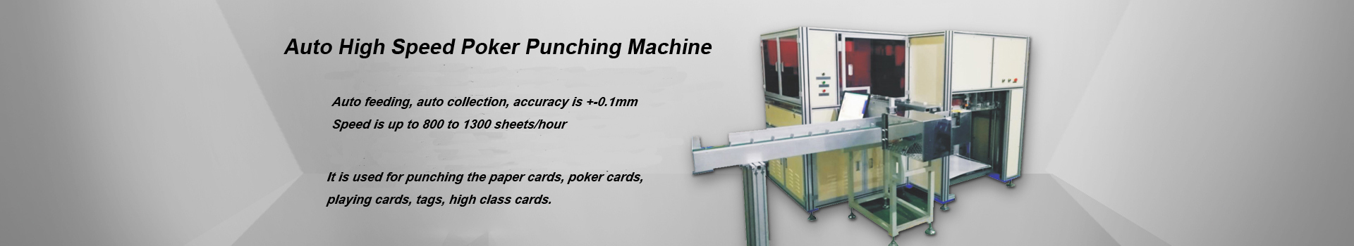 Auto Poker Punching Machine