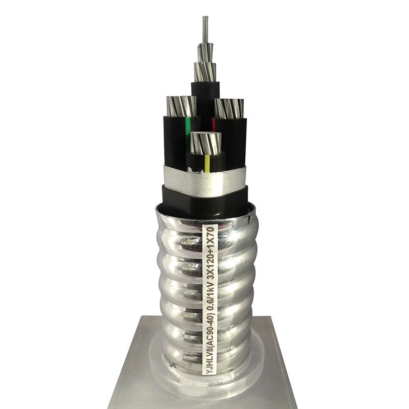 鋁合金電纜YJHLV8(AC90-40) 0.6/1kV 3X120+1X70