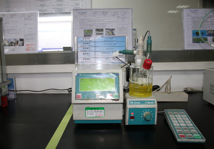 Coulometric moisture tester