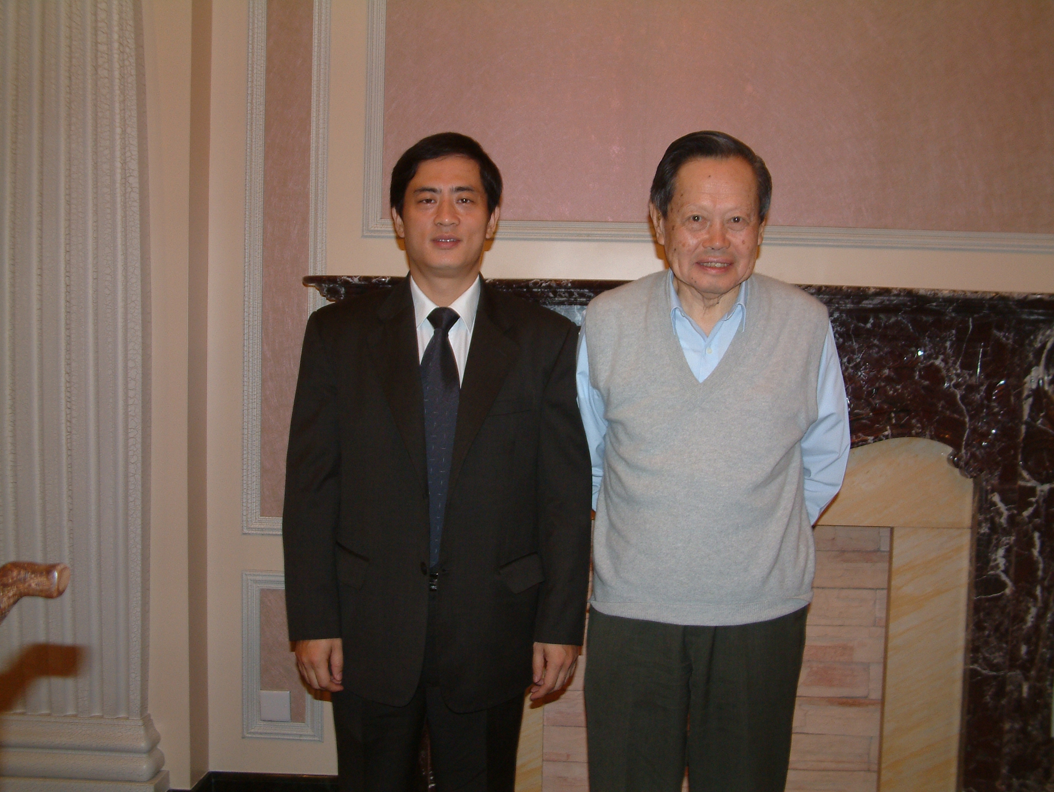 A photo with poet Zhenning Yang