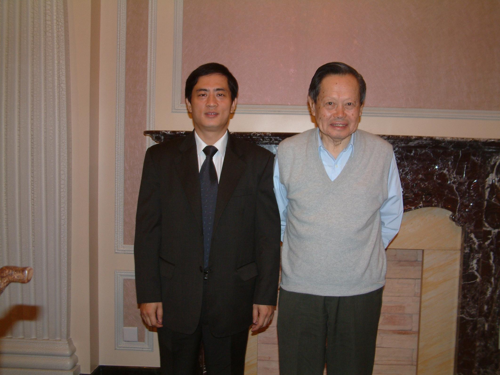 陈斌总裁与诺贝尔物理学奖得主杨振宁合影