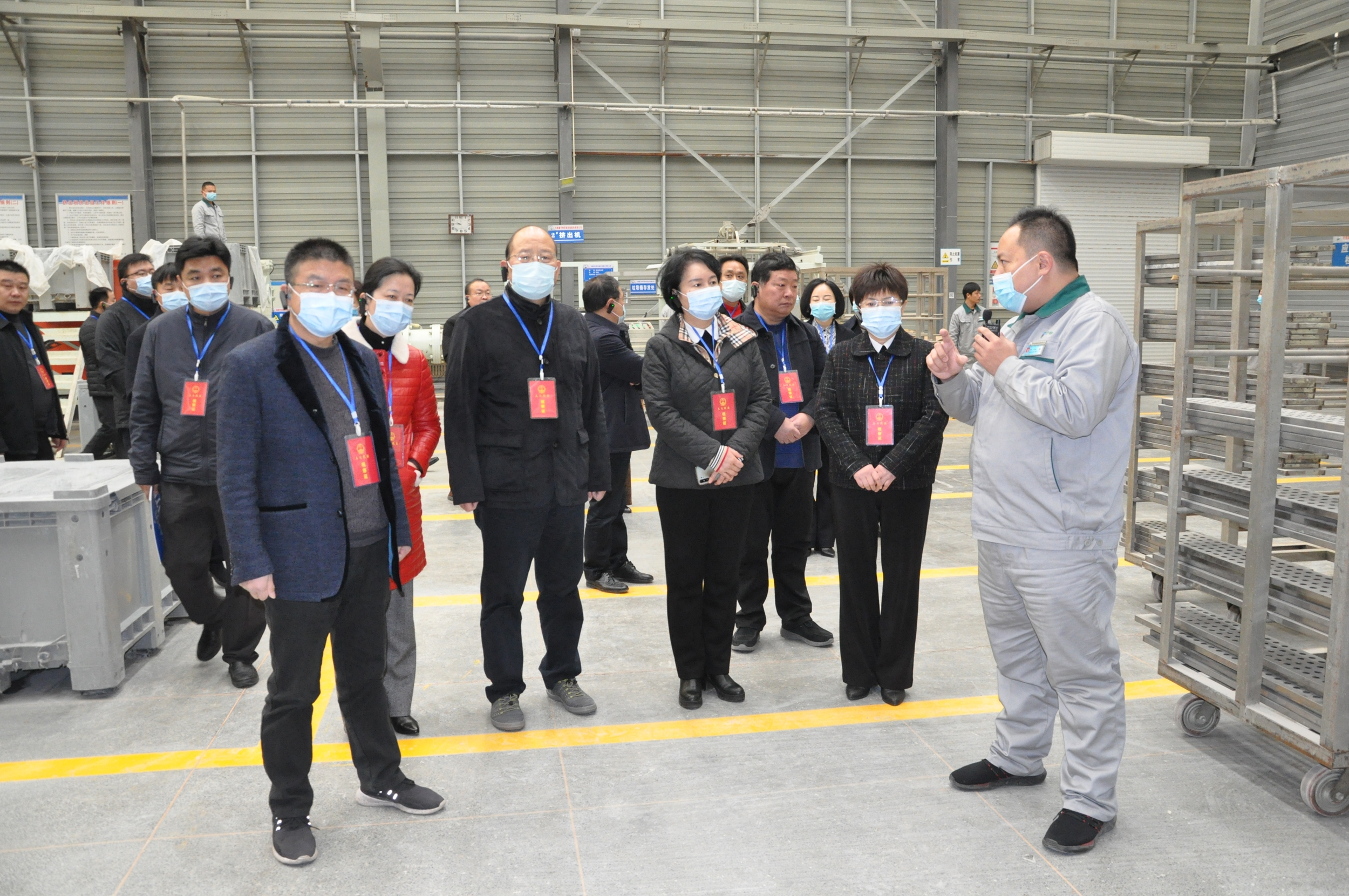 新密市人大常委会副主任王敬梅一行莅临康宁特环保集团视察指导工作
