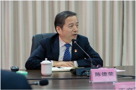 中國寶武集團黨委書記、董事長陳德榮一行到中鋼洛耐股份公司調研指導工作