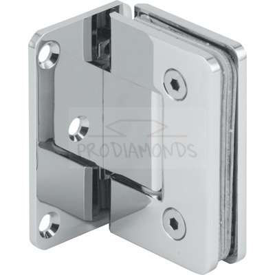 Square Round Corner Economy Shower Hinge Offset