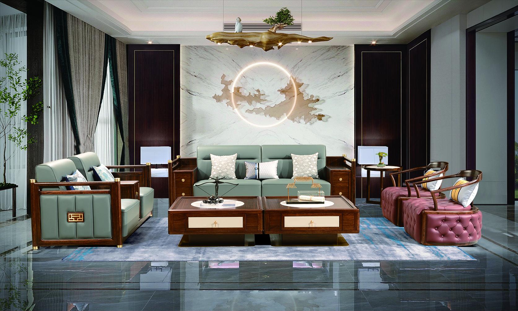 和熙中式乌金木客厅家具