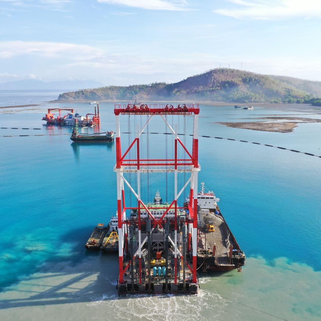 世界首艘自動化振沖碎石樁施工船——東帝汶帝巴灣新集裝箱碼頭工程