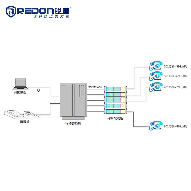 Program controlled switching system of private network