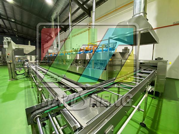 我公司為智利公司調試并生產面包屑干燥設備