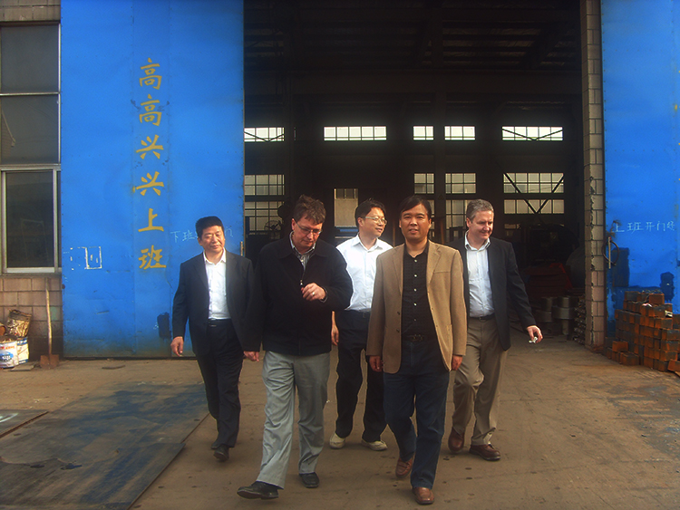 Koch from Germany visited our company for technical exchange
