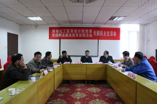 湖南化工医药设计院党委召开专题民主生活会