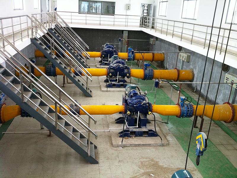 上海陳家鎮水廠取水泵房