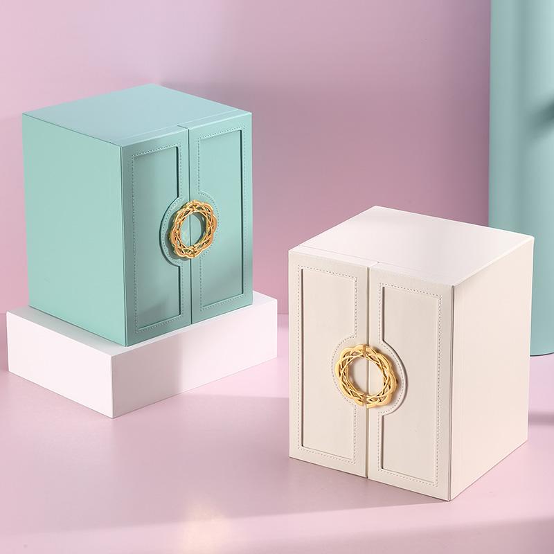 皮質珠寶首飾品收納盒