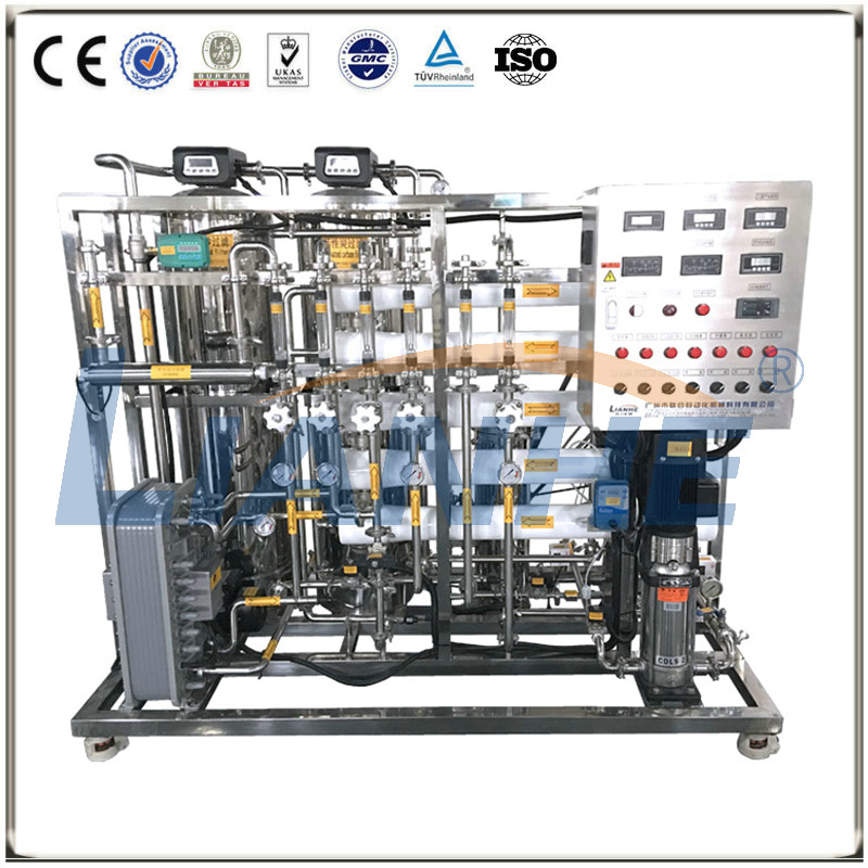 500L/H Double-stage Reverse Osmosis Water Treatment with EDI System