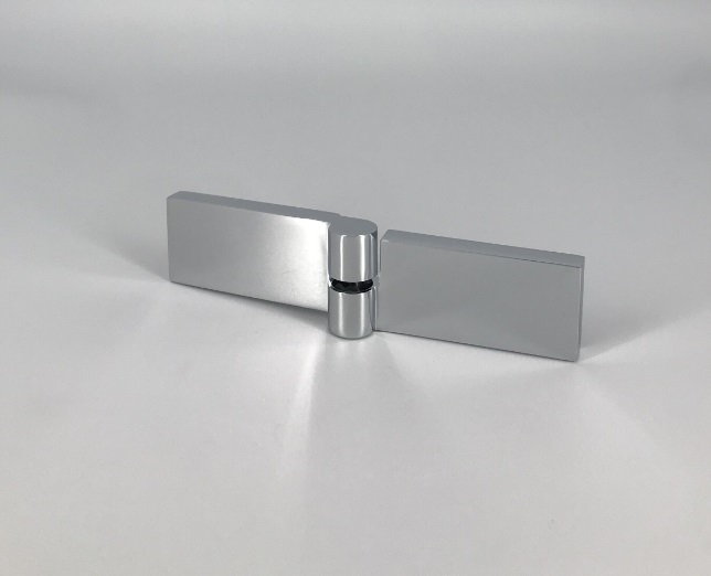 Shower door fitting flush glass-glass lifting-lowering technology