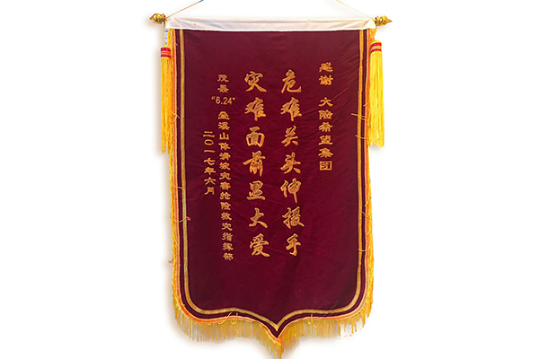 "2017 Maoxian ""6.24"" Diexi landslide disaster rescue and disaster relief banner"