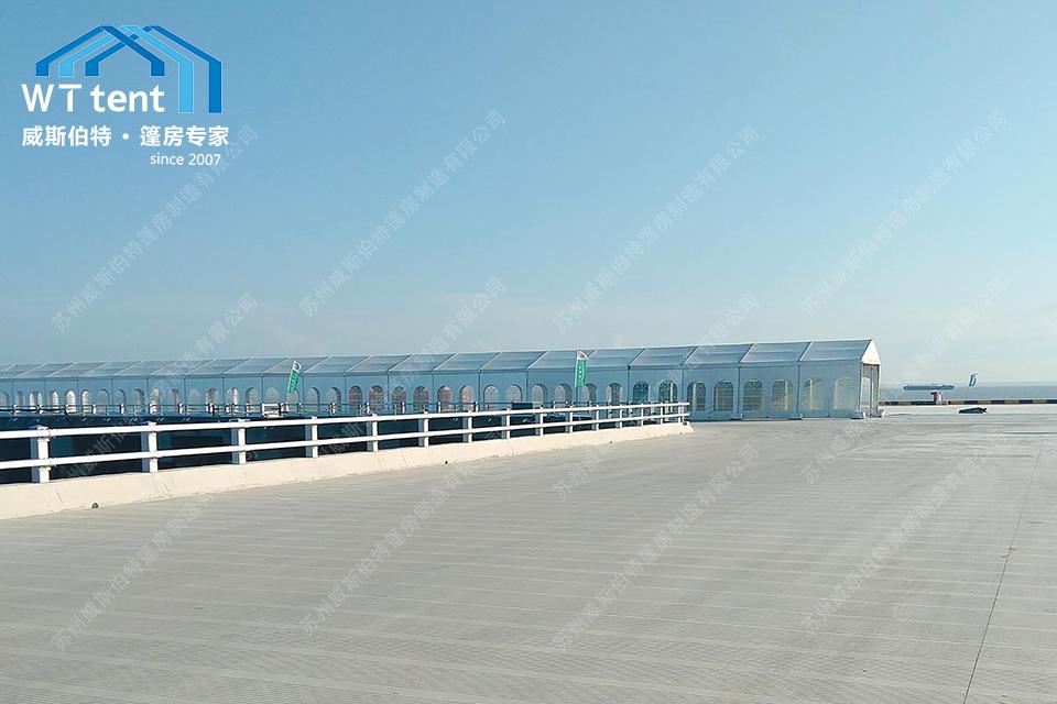 """威斯伯特篷房江苏规模最大的""""水上搜救大点兵""""在太仓港水域举行。"""