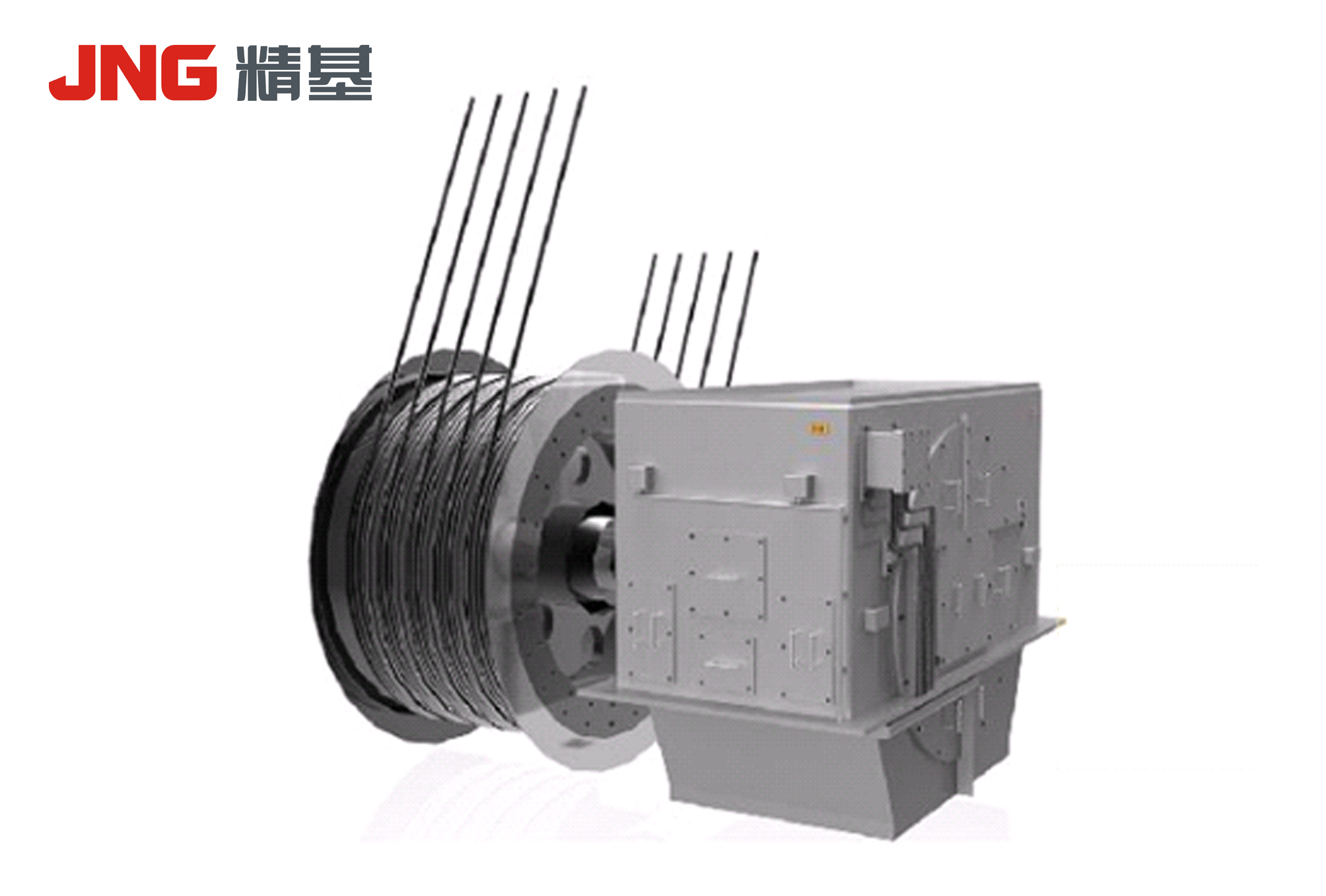 Three-phase permanent magnet synchronous motor for mine hoisting equipment
