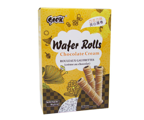 Wafer Rolls(Chocolate flavor)180gX16boxes