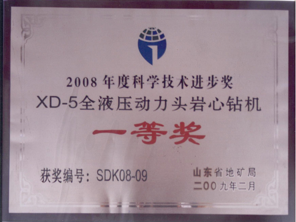 2008年度科學技術進步獎