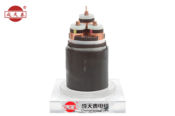 Copper core, XLPE insulated poly, ethylene sheathed power cable