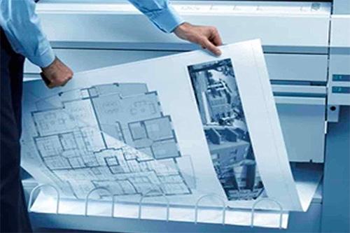 介绍晒图机使用的蓝图纸
