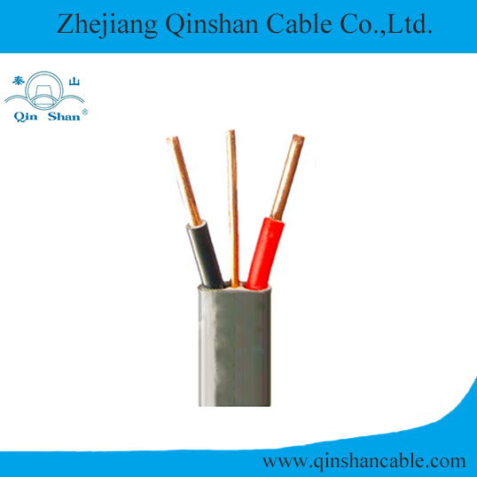 2+E Solid Copper Conductor PVC Insulated and Sheathed Flat Electric Cable