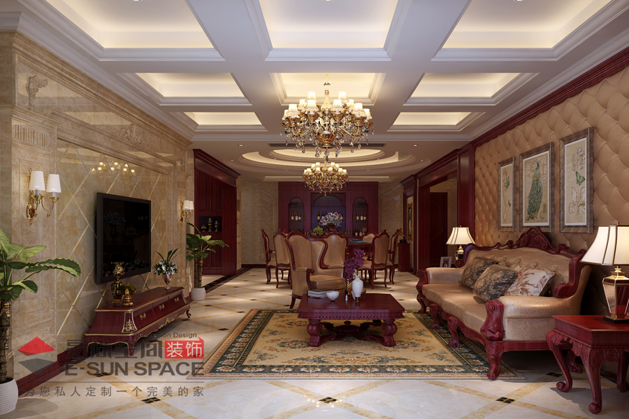 東港國際4號樓賁先生家雅居--美式風格