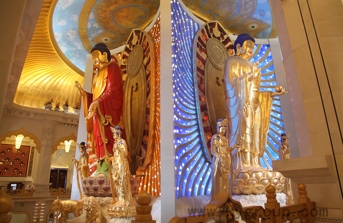兗州興隆文化園琉璃背光