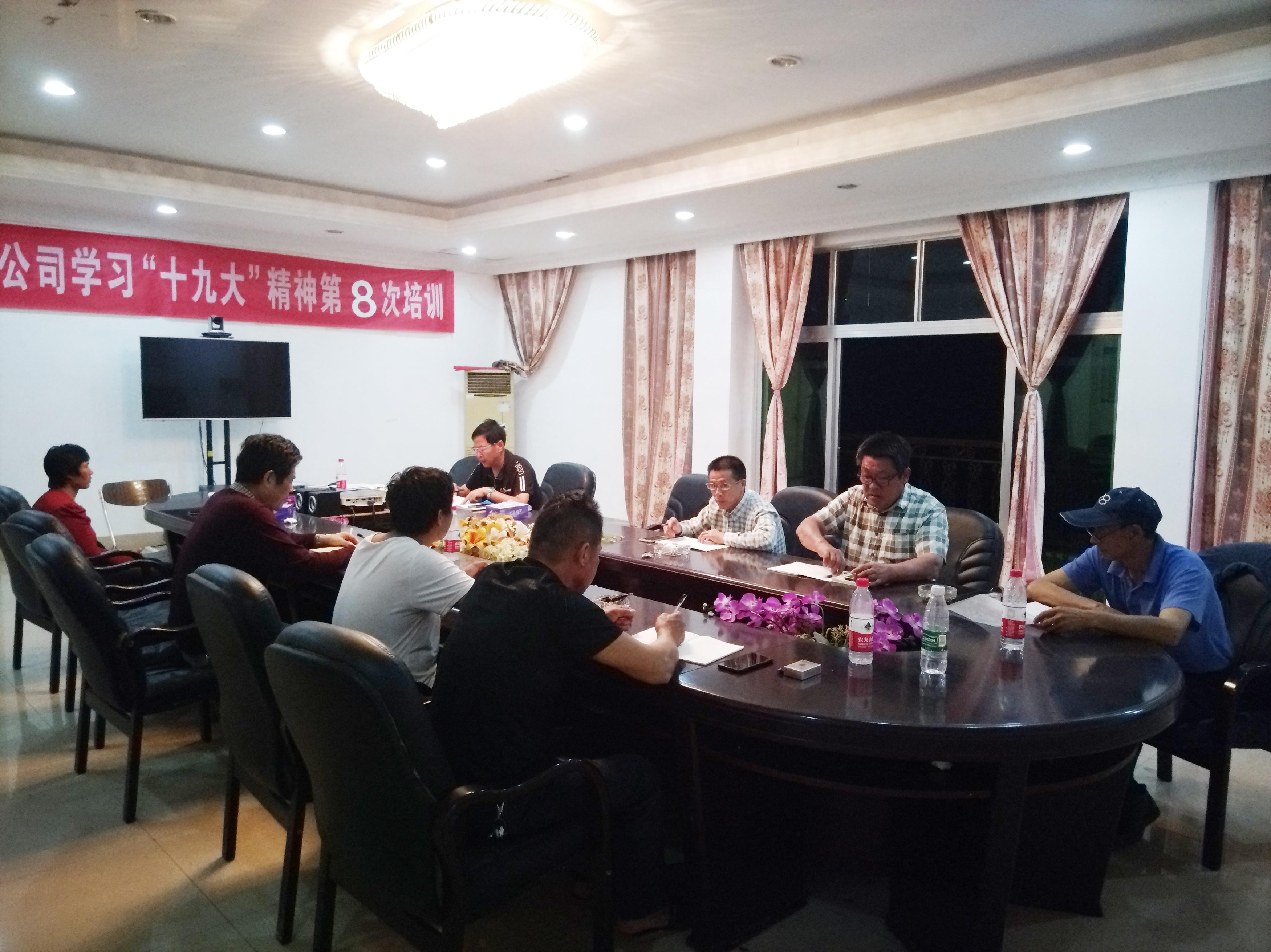 新五豐五支部主題黨日活動—專題學習黨的十九屆四中全會精神