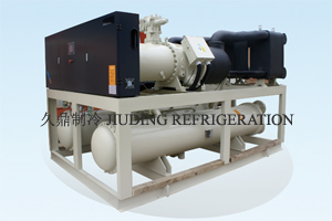 Water source heat pump unit with screw