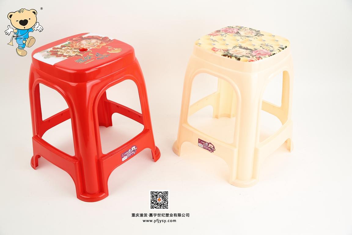 1203-1204貼花凳
