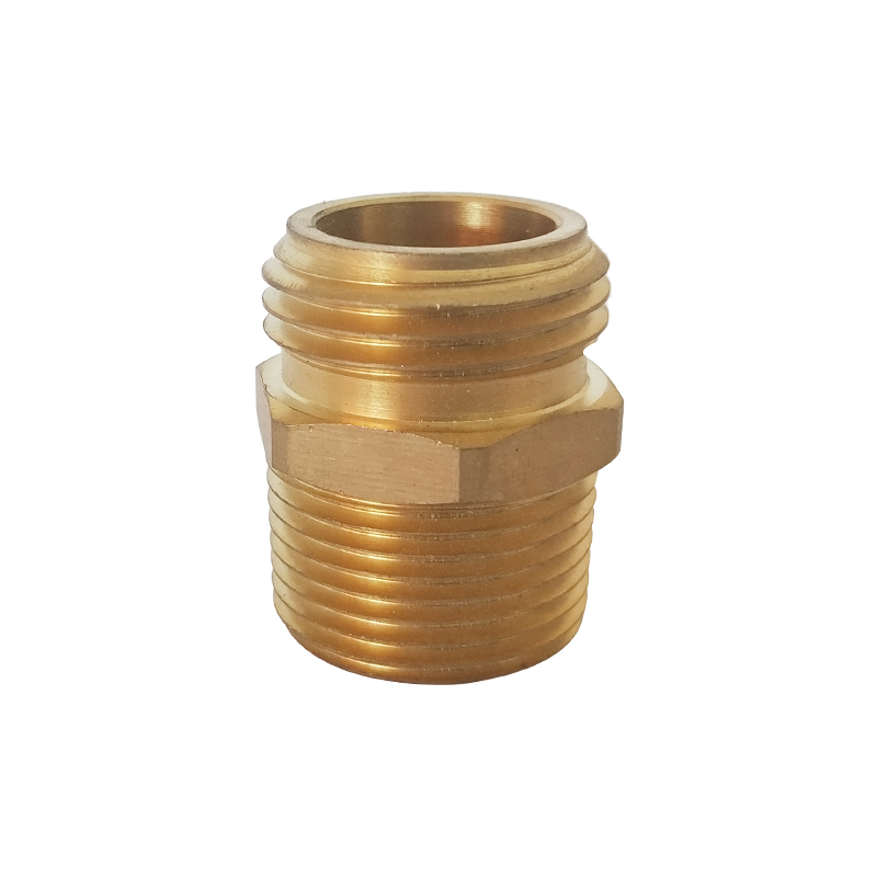 "3/4"" Double Male Brass Threaded Hose Adapter"