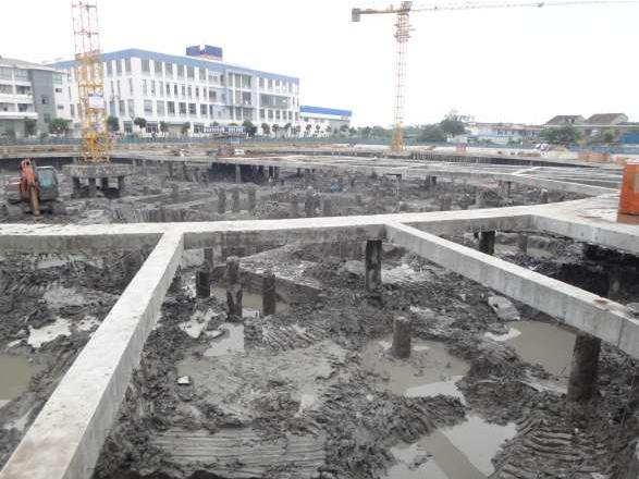 寧波牛奶集團綜合大樓基坑支護設計