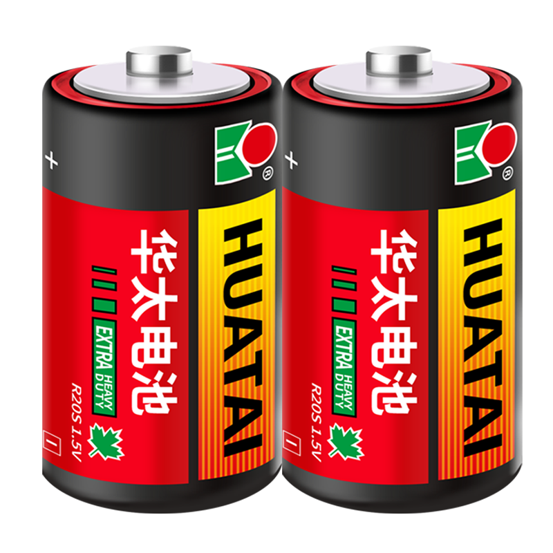 华太普通红彩1号碳性煤气灶大号电池2粒缩装