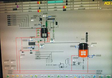 樹脂反應自動化控制實時畫面