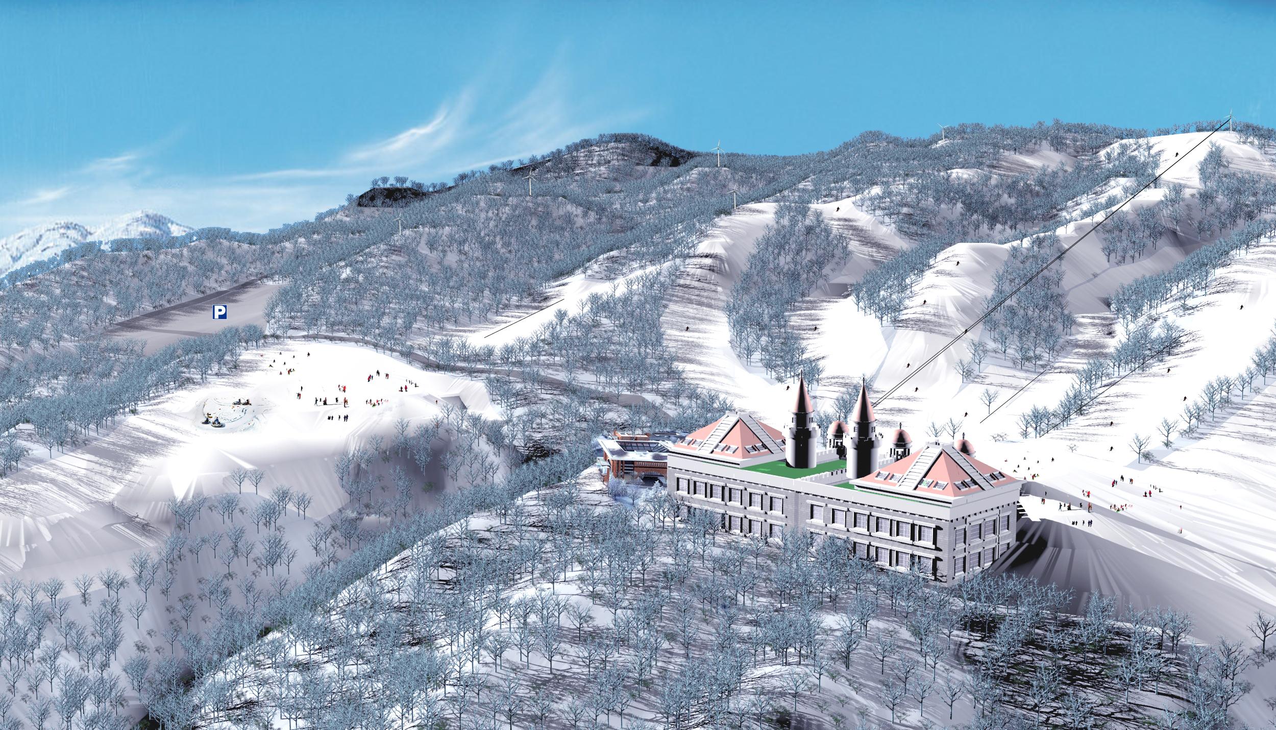 貴州六盤水烏蒙滑雪場