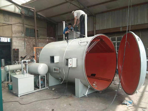 Wood high frequency vacuum dryer