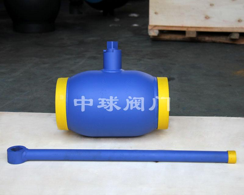 Handle type fully welded ball valve Q61F DN150