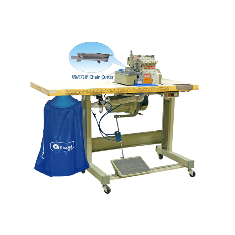 3 Ways Pneumatic Suction Chain Cutter Device With over-lock Machine ( YAMATO)