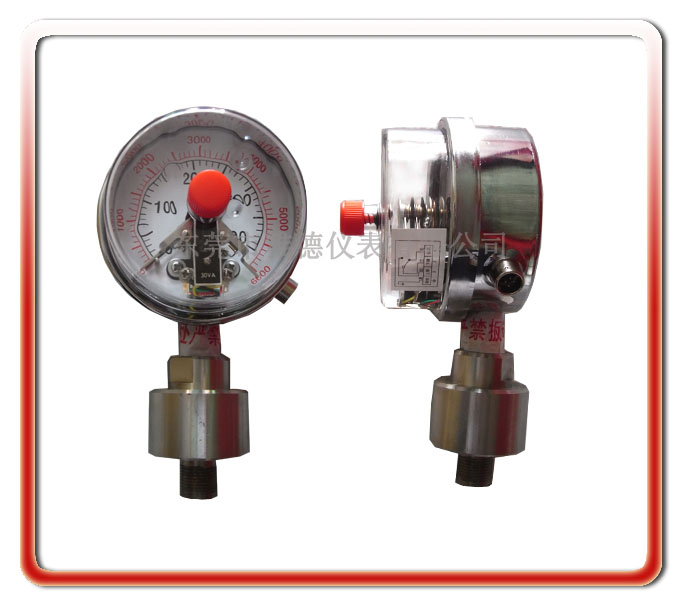 高壓電接點隔膜壓力表