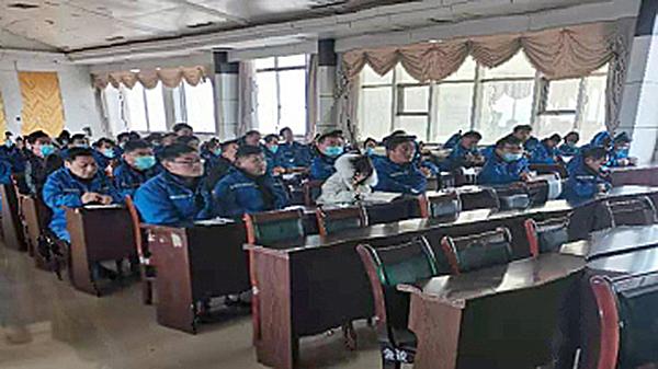 东明玉皇储运部组织全体员工集中学习规章制度