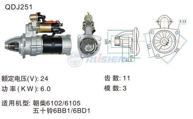 型号:QDJ251