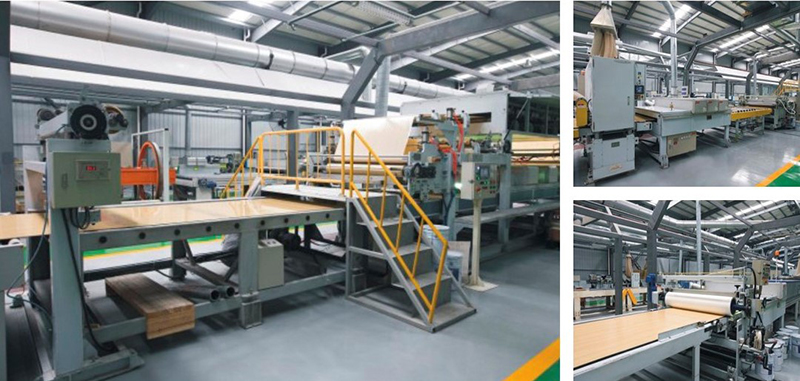 International leading inorganic pre-coated board production line
