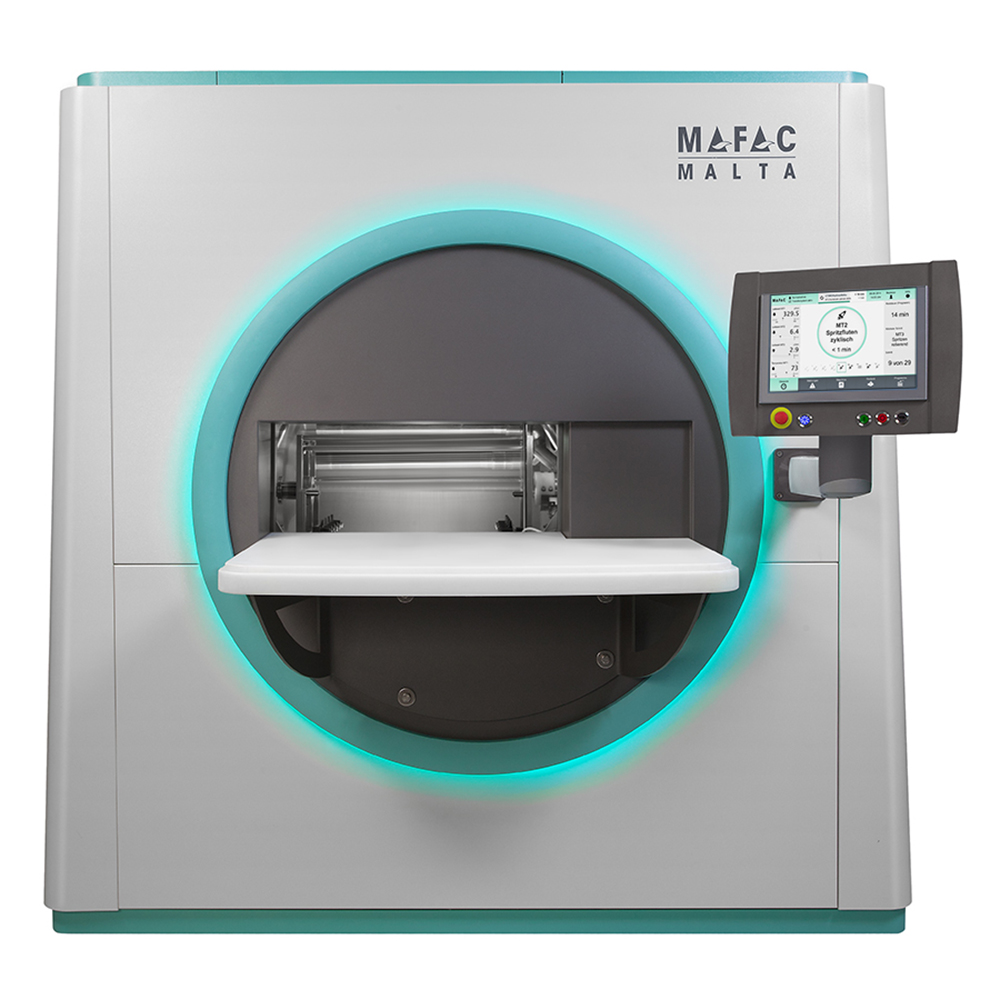 Spray and flood cleaning of precision parts  Particle-free degreasing  MAFAC